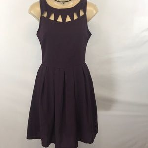 NWT Plum Skater Skirt dress with cut out back.